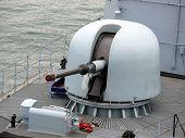 stock photo of labo  - portrait of gun on german navy ship - JPG