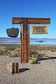 Picturesque wooden landmark Mono Lake poster
