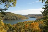 overlook of Allegheny Reservoir in the Allegheny National Forest