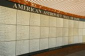 Meteor Crater's American Astronaut Wall of Fame
