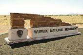 Wupatki National Monument sign