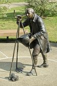 Albert Gallatin scientific statue