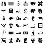 Scientific Things Icons Set. Simple Style Of 36 Scientific Things Icons For Web Isolated On White Ba poster