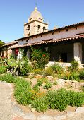 Carmel Mission gardens