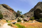 trail through Pinnacles National Monument