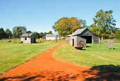 stock photo of jimmy  - Jimmy Carter National Historic Site  farm buildings - JPG