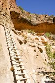 native american indian cliff dwelling ladder