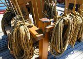 U.S. Brig Niagara ropes