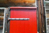 red fort door