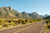 Chisos Mountains entrance road