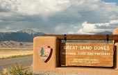 Sinal de Great Sand Dunes National Park