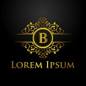 Luxury Logo, Letter B Logo, Classic And Elegant Logo Designs For Industry And Business, Interior Log poster