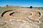 Salinas Pueblo Missions National Monument, white stone kiva