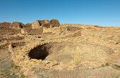 Pueblo Del Arroyo native american indian ruins and kiva