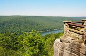 Allegheny National Forest and reservoir from an overlook