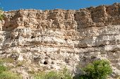 rock cliffs in the desert at Montezuma Castle National Monument