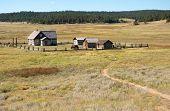 pic of colorado high country  - Hornbeck Farmstead buildings on the plains - JPG