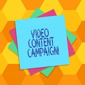 Handwriting Text Video Content Campaign. Concept Meaning Integrates Engaging Video Into Marketing Ca poster