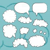 Plain vector bubbles set