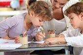 picture of babysitter  - Little girls drawing - JPG