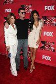 LOS ANGELES - DEC 19:  Paula Abdul, Simon Cowell, Nicole Scherzinger at the FOX's