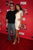 LOS ANGELES - DEC 19:  Simon Cowell, Nicole Scherzinger at the FOX's