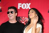 LOS ANGELES - DEC 19:  Simon Cowell, Nicole Scherzinger at the FOX's
