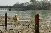 HARIDWAR, INDIA - JANUARY 14: Ganga river after festival of Kumbha Mela, huge Religious festival reg