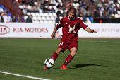 TOMSK, Russland - SEPTEMBER 20: Fußballspiel Meisterschaft von Russland unter Tom'(Tomsk) - Rubin (Kazan