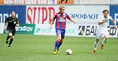 MOSCOW - MAY 10: CSKA's Keisuke Honda (C) in action during their team's Russian football championshi