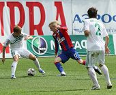 MOSCOW - MAY 10: CSKA's Milos Krasic (C) in action during their team's Russian football championship