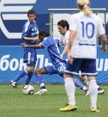 MOSCOW - JULY 3: Dynamo Kyiv's midfielder Frank Temile (14) in the VTB Lev Yashin Cup: FC Dynamo Mos