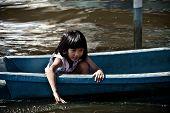 Navegar um barco em uma rua