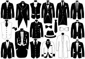 Suits illustration set