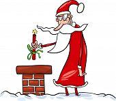 Santa Claus Cartoon Christmas Illustration