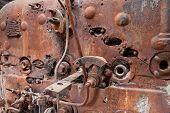 Old Rusty Steam Locomotive Boiler