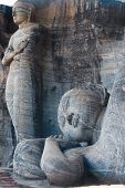 Standing Reclining Buddha Statues Polonnaruwa