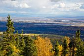 picture of ester  - View of Fairbanks Alaska from Ester Dome in Fall - JPG