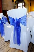 Blue Ribbon Chair Cover