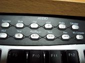Close Up Of Keyboard Audio Buttons