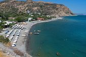 Aghia Galini beach at Crete island in Greece