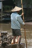 Mekong river  fisherman