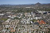 picture of piestewa  - Busy financial district below Piestewa Peak in sunny Phoenix Arizona - JPG