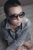 The Stylish Girl In Sunglasses