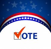 image of election campaign  - Voting Symbols vector design presidential election 2012 - JPG