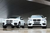 Two white BMW X-series