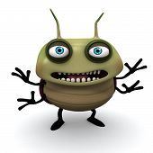 Happy Green Bug