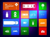 Vector Set of transport icons navigator