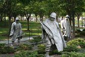 Statues At The Korean War Memorial