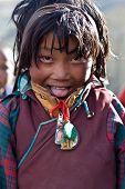 Chica tibetana